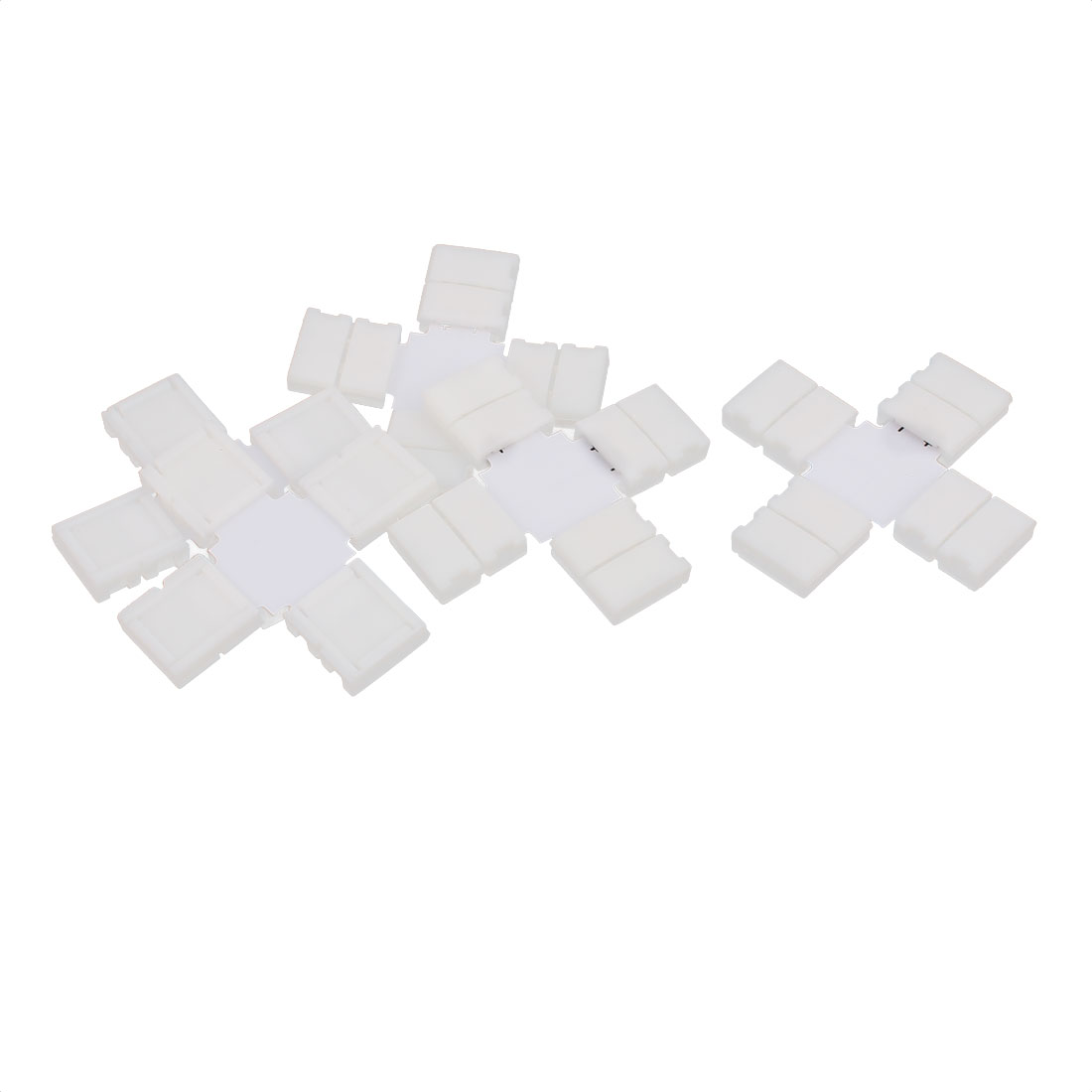 10mm Wide 4 Pin RGB Light Strip Cross Connectors Off White 5pcs for 5050 LED