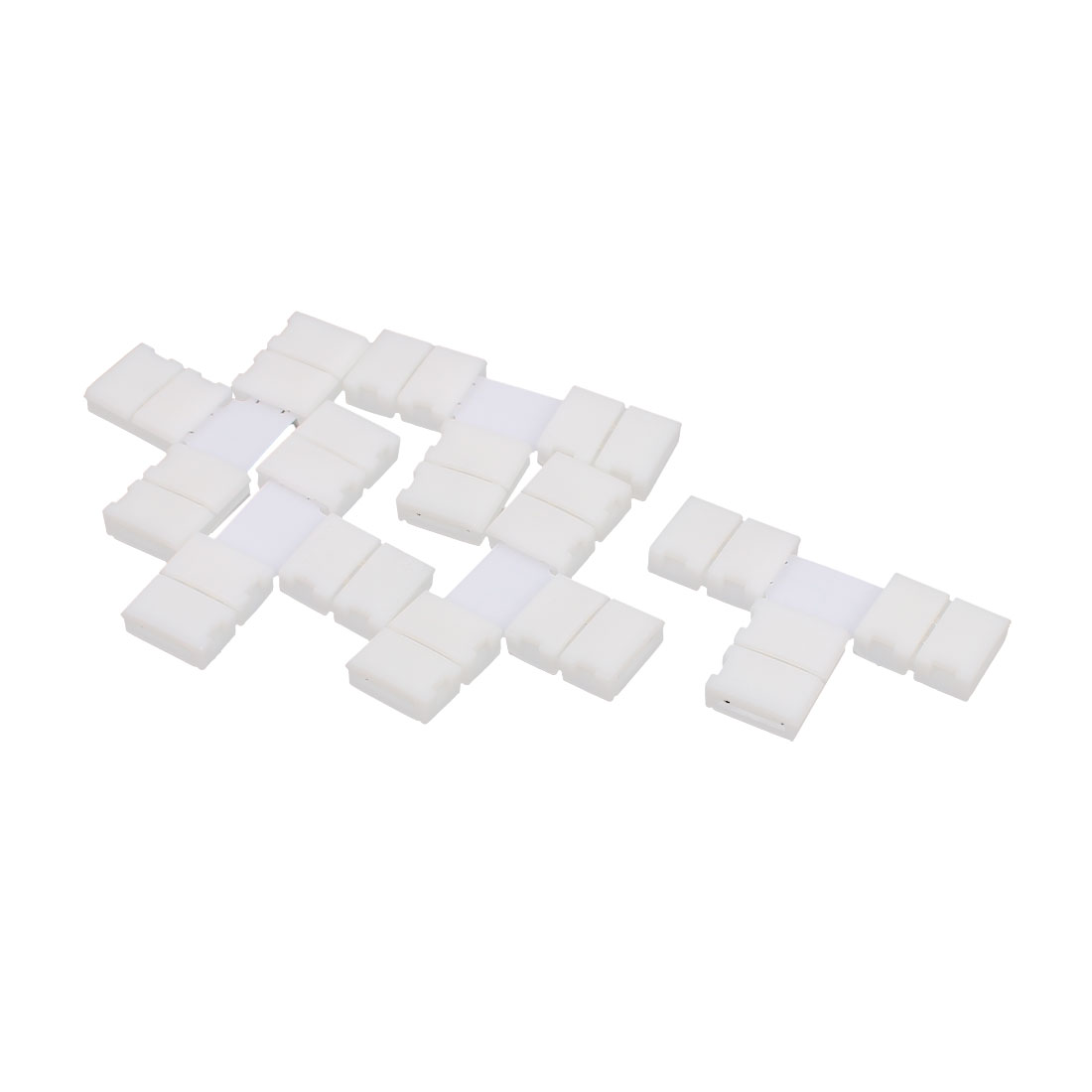 8mm Wide 4 Pin RGB Light Strip T Shape Connectors Off White 5pcs for 3258 LED