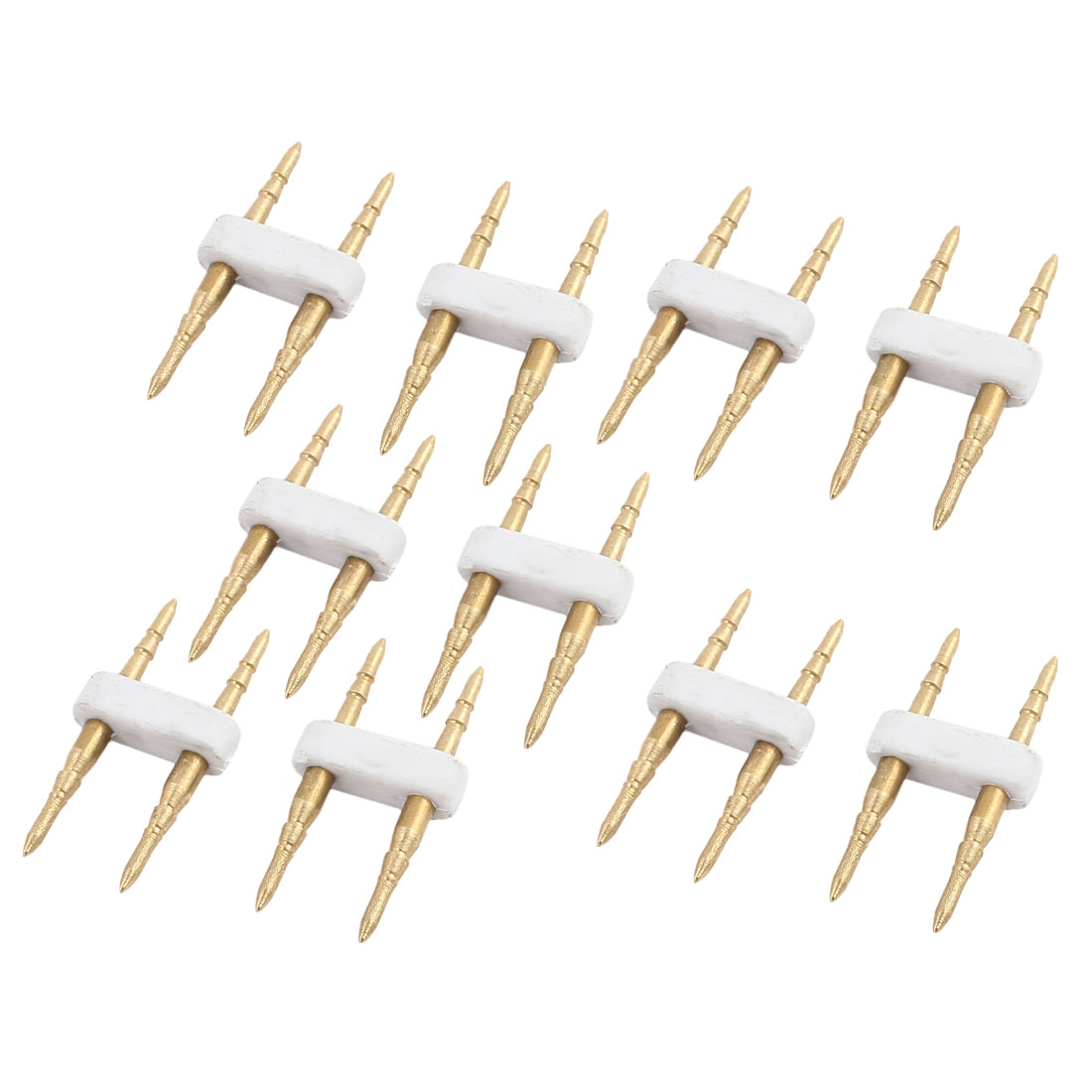 10 Pcs 7 mm Terminal Pitch 2 Needles for LED Light Strips Connector Output Cable