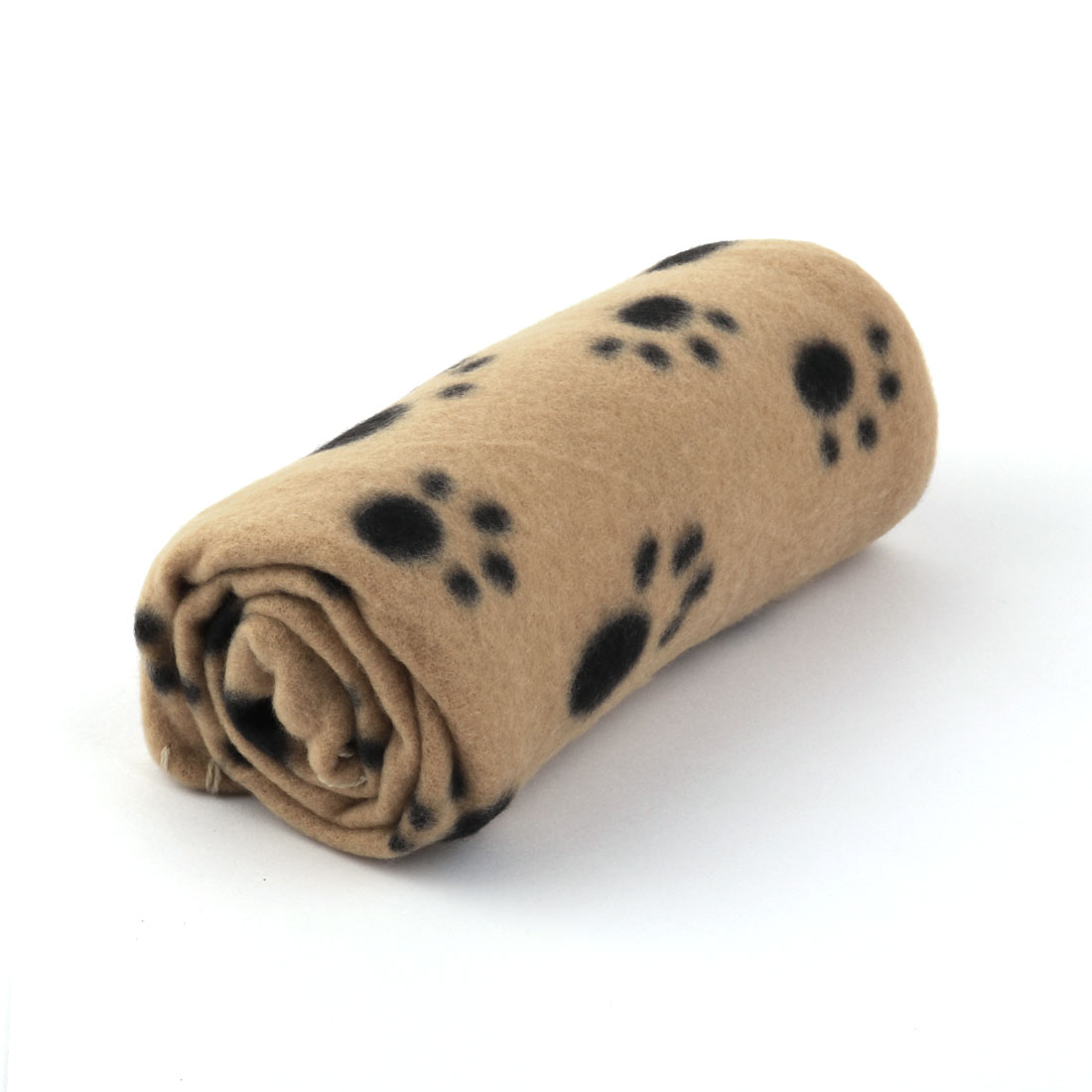 """Pet Fleece Blanket for Small Cats & Dogs 23.6"""" x 27.6"""", Brown Paw"""