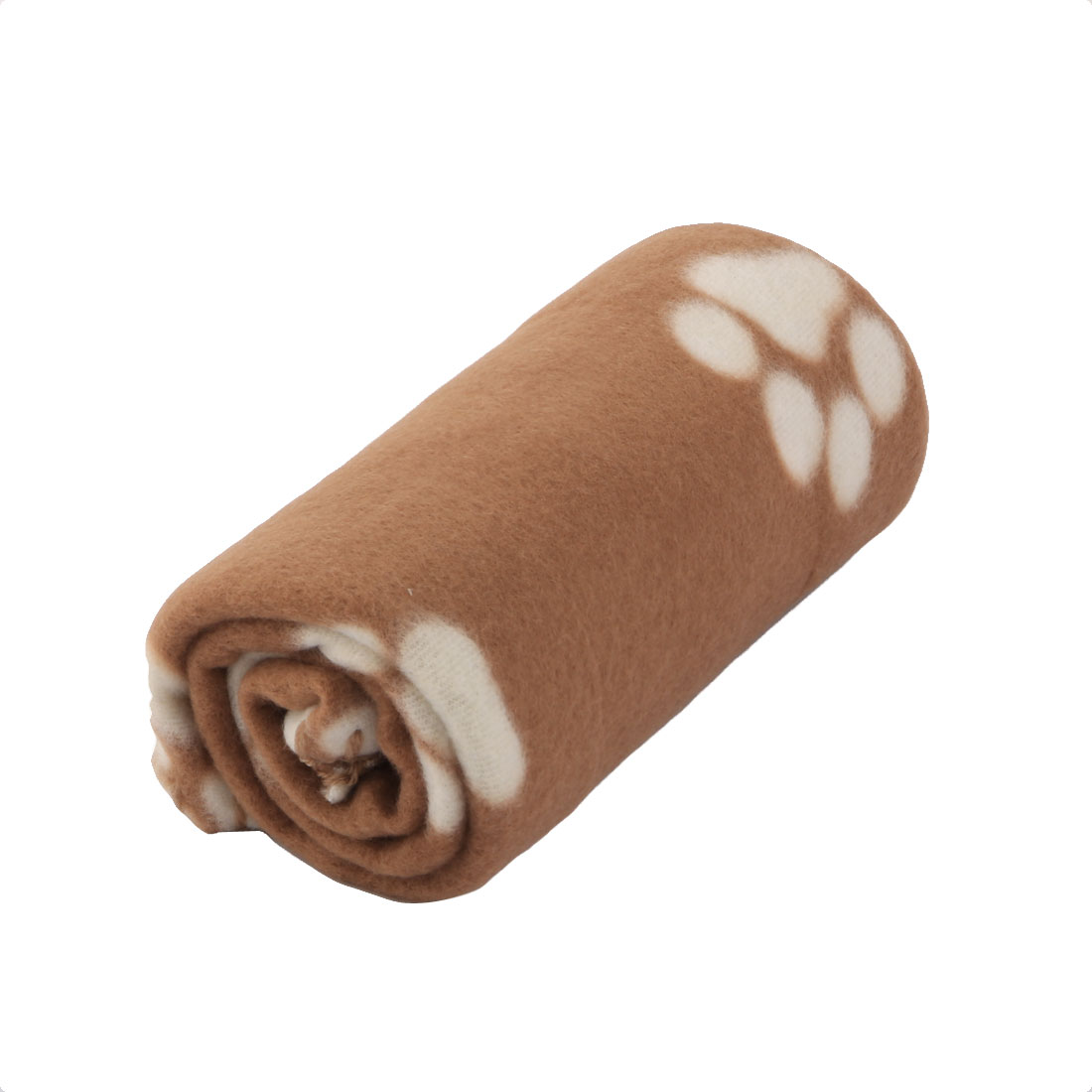 "Pet Fleece Blanket for Small Cats & Dogs 23.6"" x 27.6"", Coffee Color Paw"