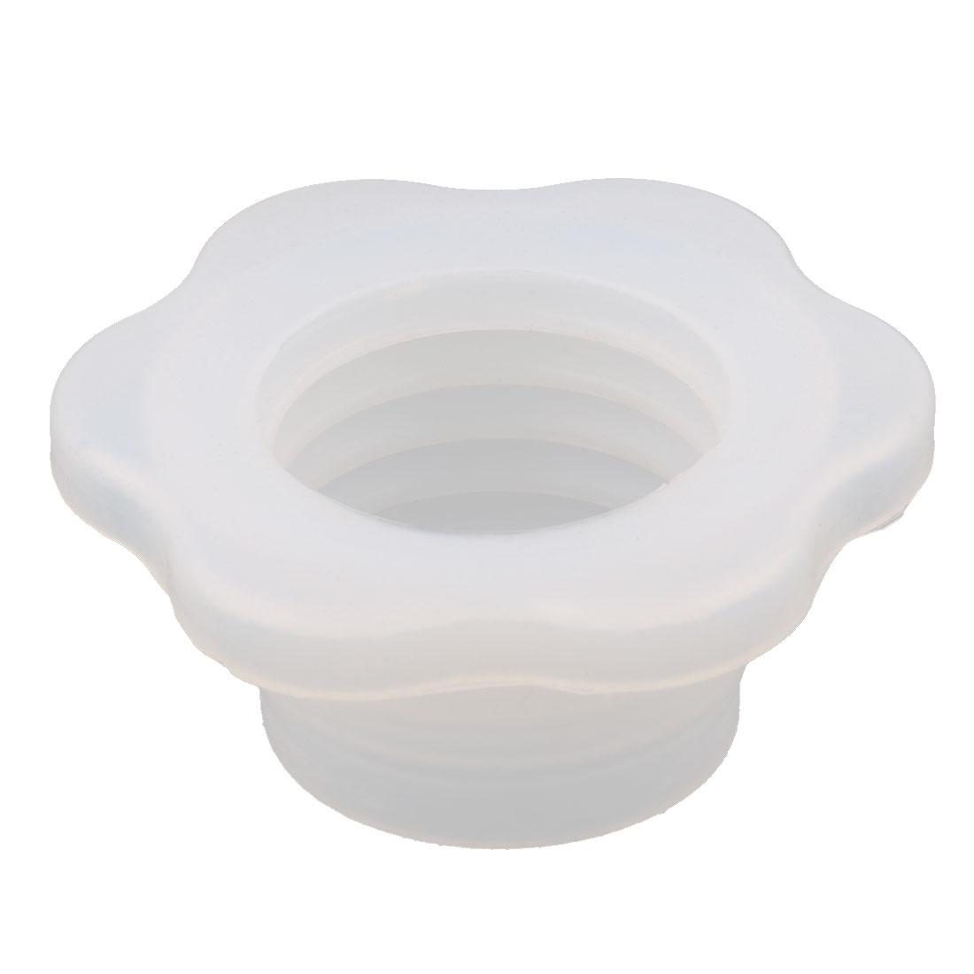 Washing Machine Rubber Flower Shaped Sewer Washer Deodorant Ring Seal White
