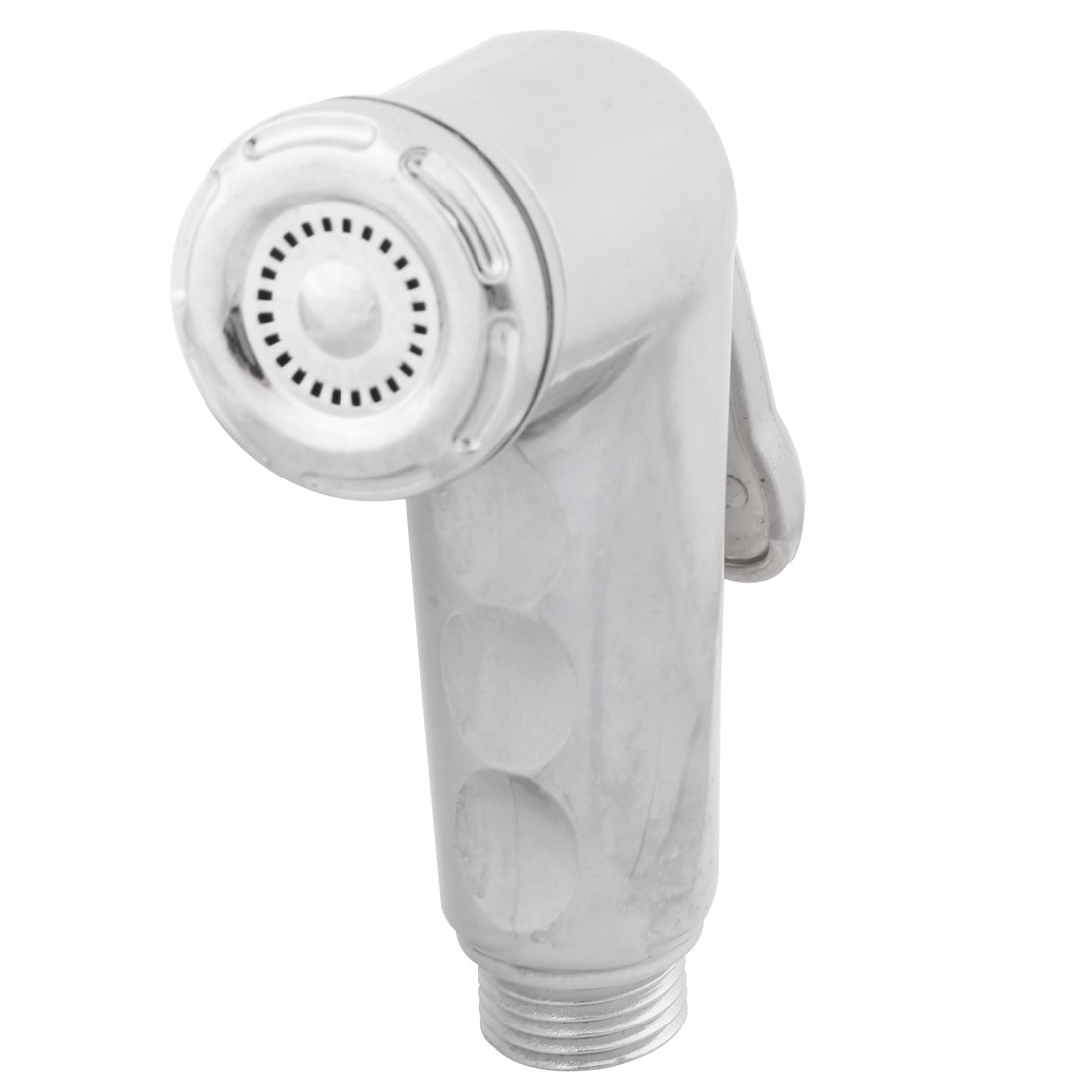 Closestool Bathroom Metal Water Shower Handgrip Hand Held Bidet Silver Tone
