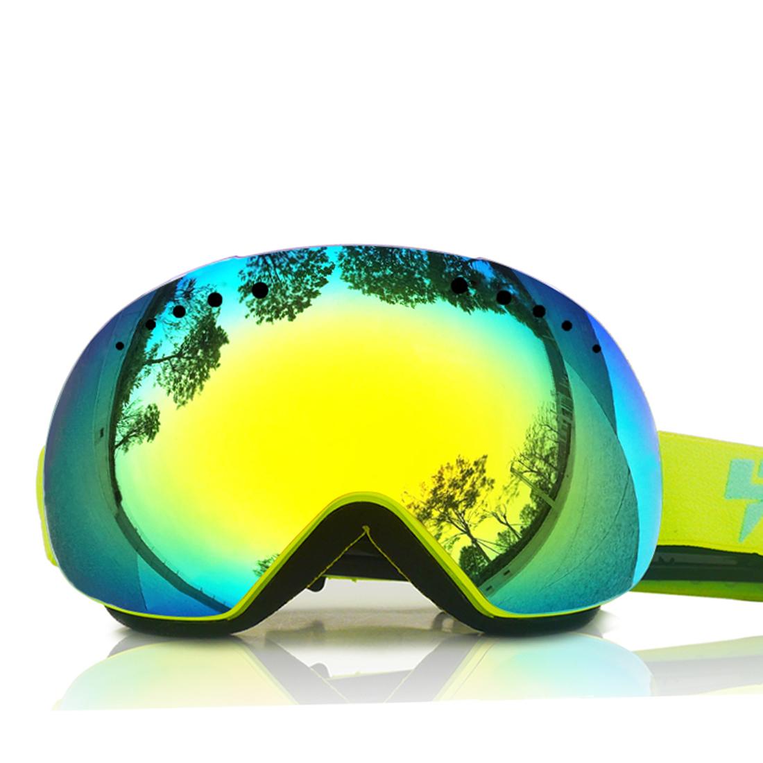 LY-100 Authorized Ski Snowmobile Snowboard Goggles Anti-fog UV400 Protect OTG Anti-slip YW