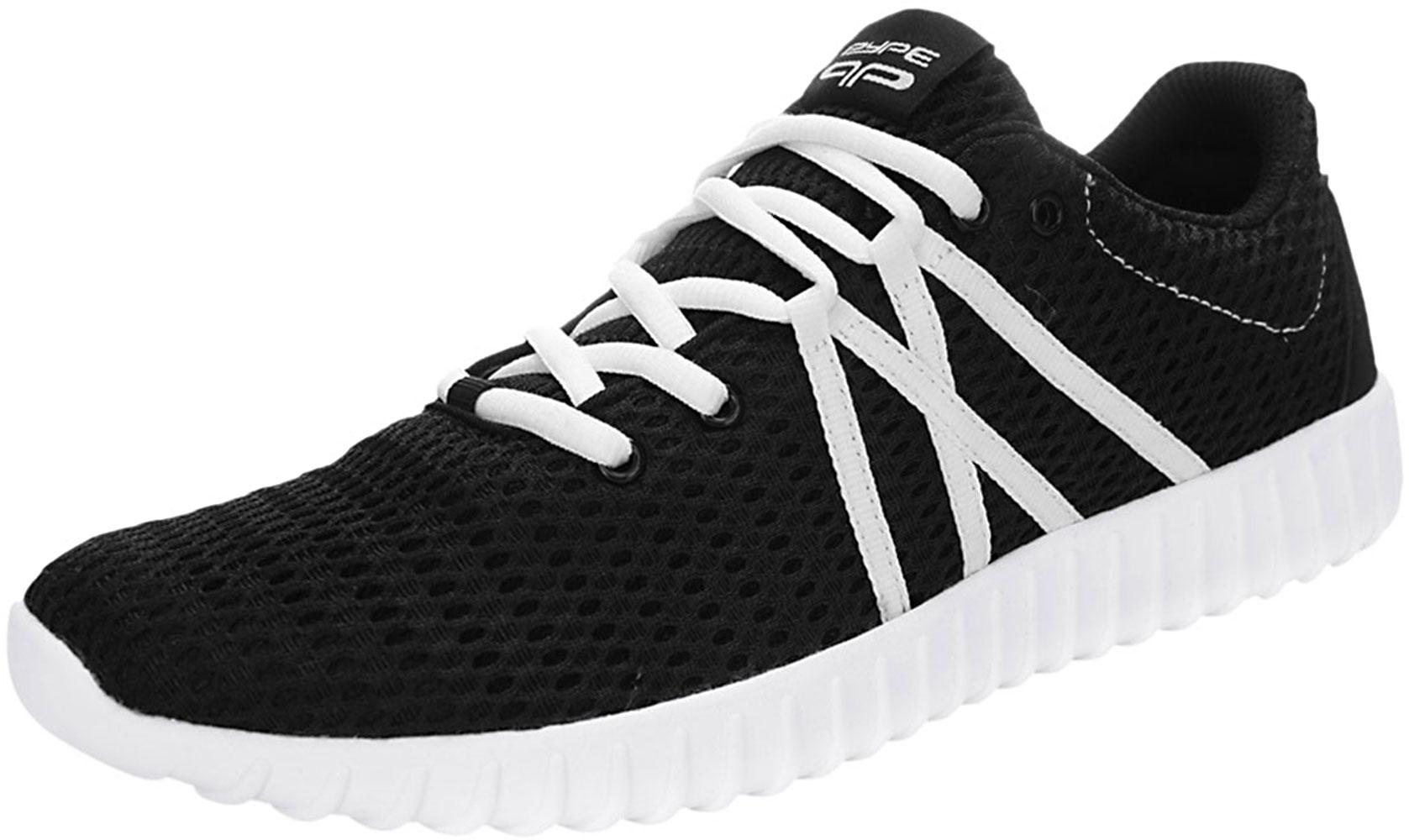 PYPE Women Contrast Color Lace Up Mesh Training Sneakers Black US 9.5