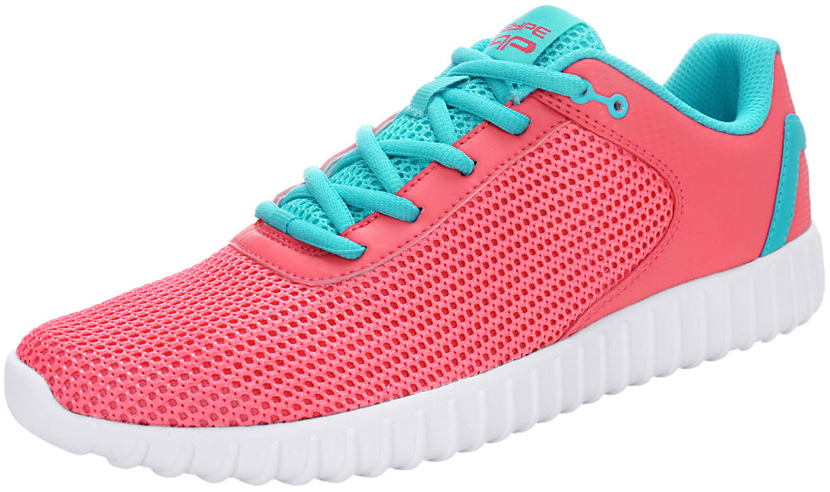 PYPE Women Contrast Color PU Panel Mesh Training Shoes Pink US 8.5