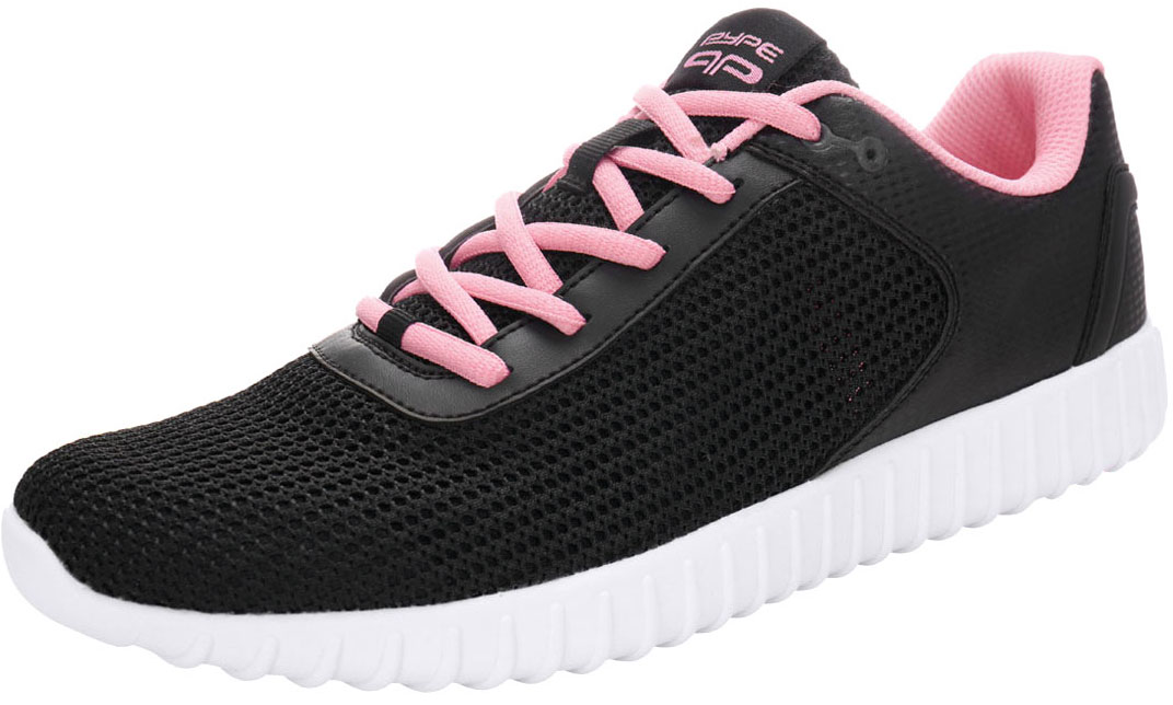 PYPE Women Contrast Color PU Panel Mesh Training Shoes Black US 9.5