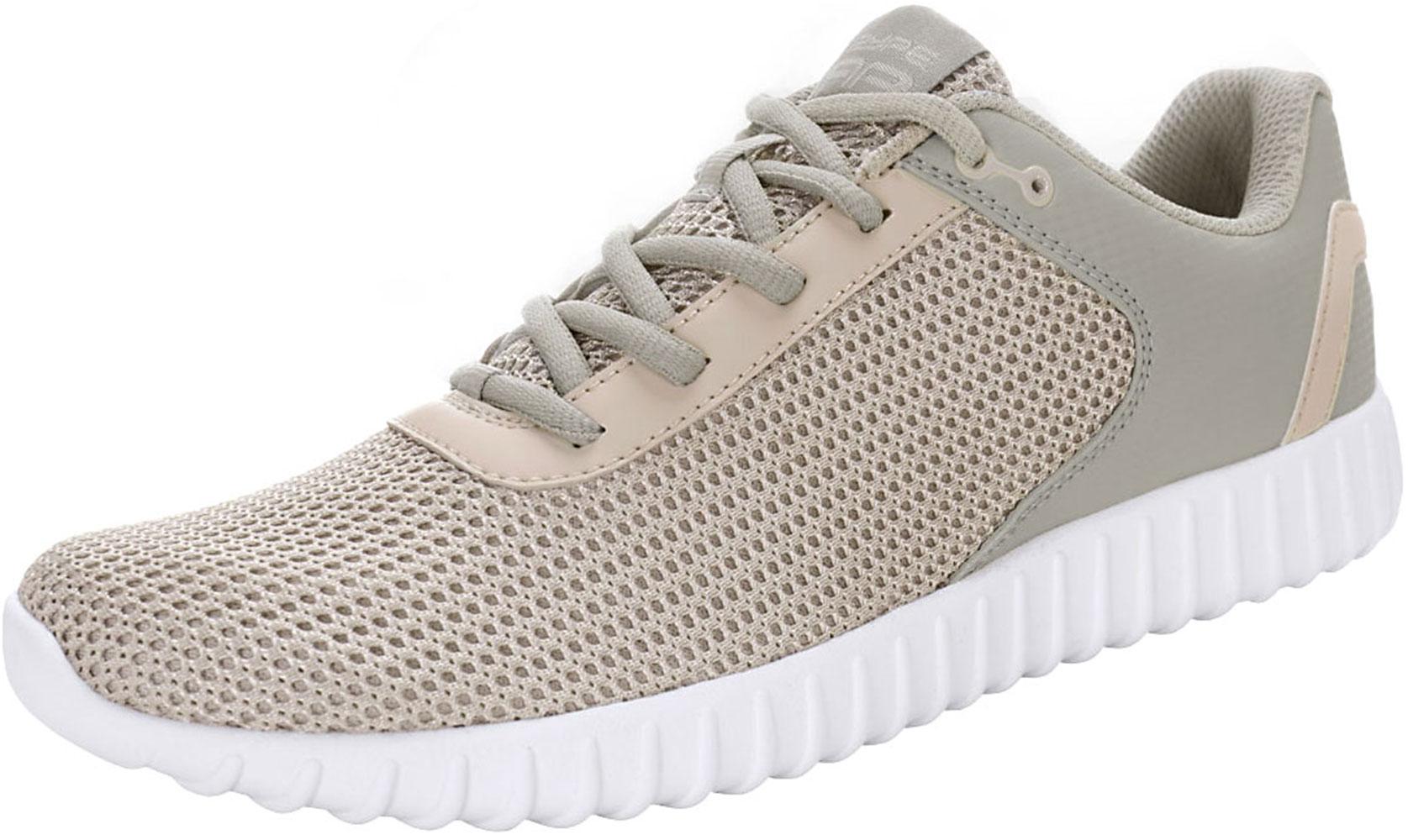 PYPE Women Contrast Color PU Panel Mesh Training Shoes Gray US 8