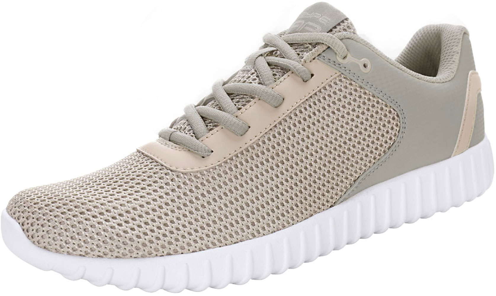 PYPE Women Contrast Color PU Panel Mesh Training Shoes Gray US 8.5