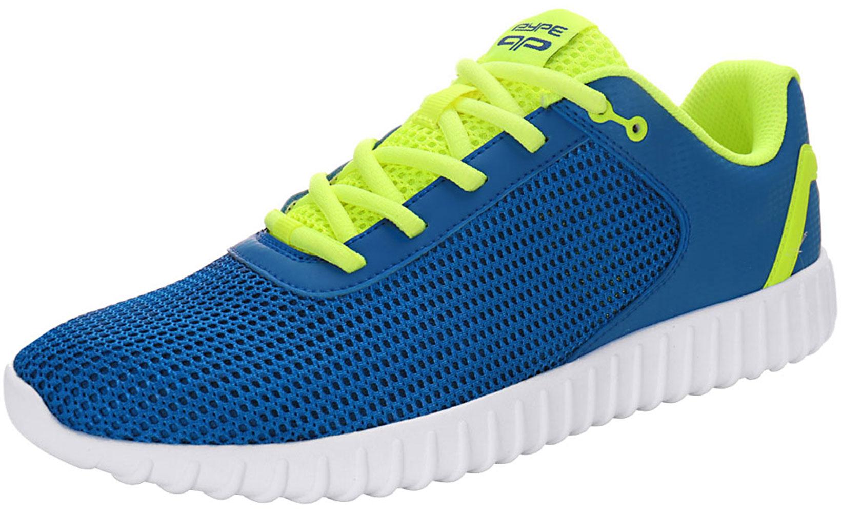 PYPE Women Contrast Color PU Panel Mesh Training Shoes Blue US 8.5