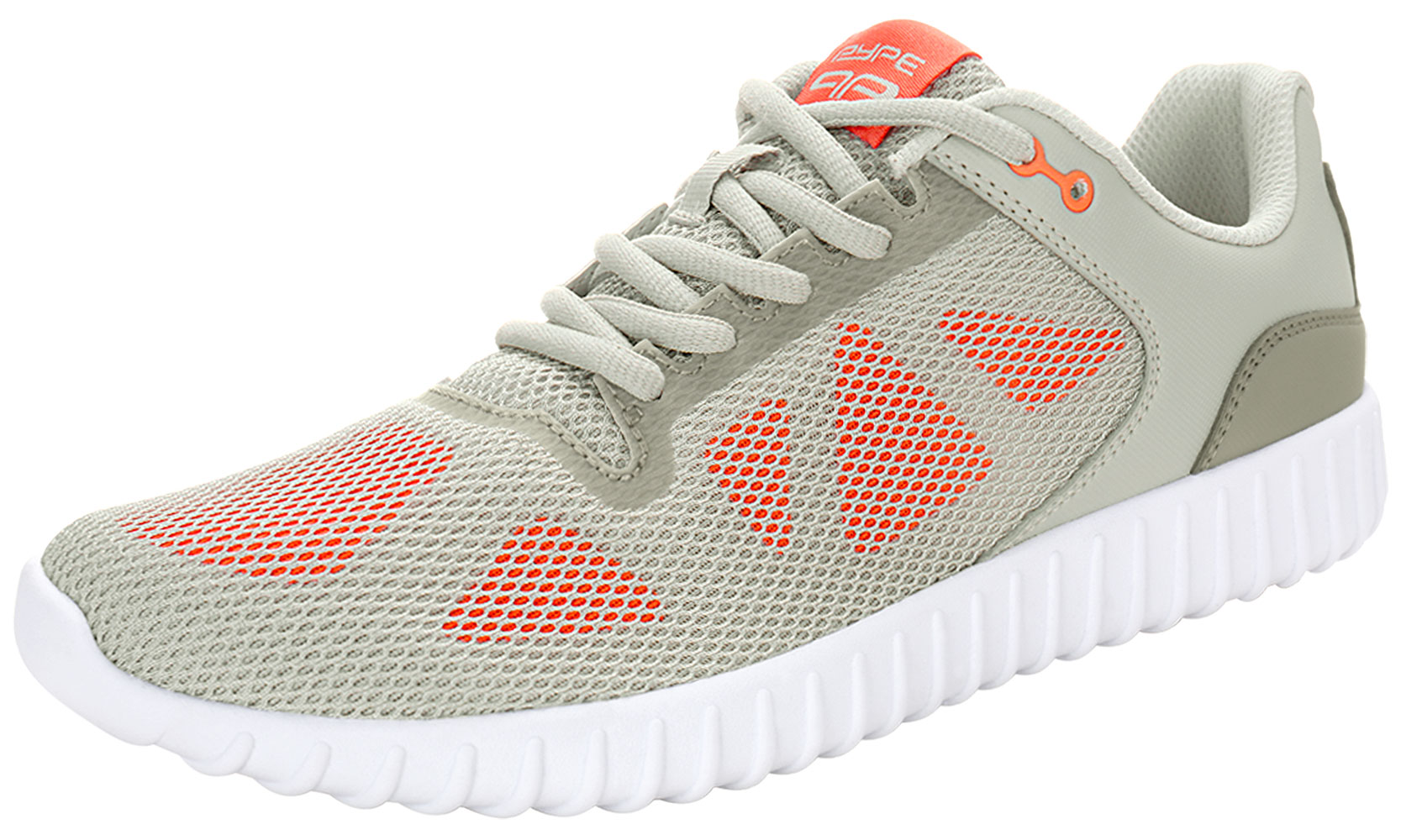 PYPE Women Geometric Prints Lace Up Mesh Training Shoes Gray US 8