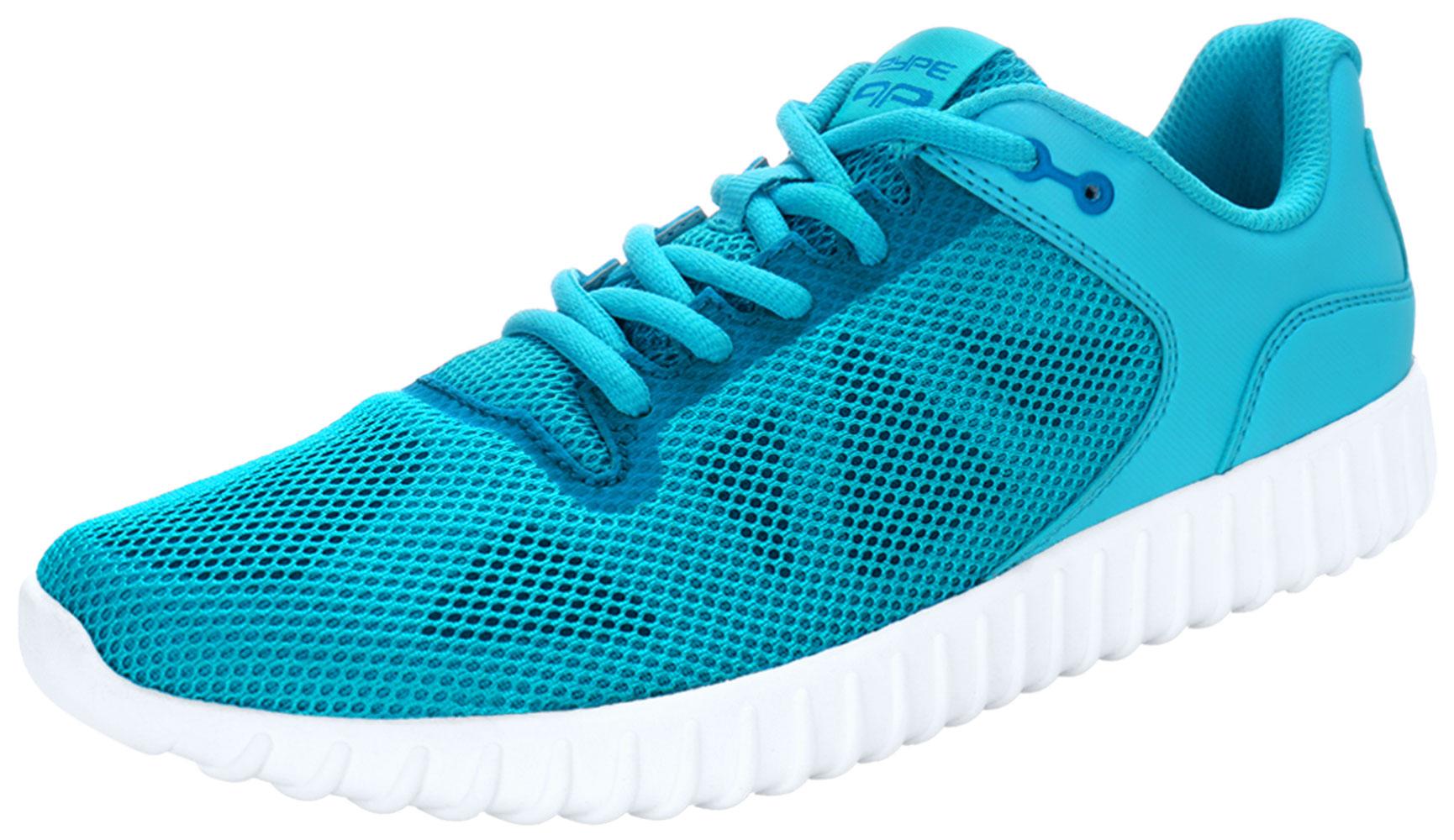 PYPE Women Geometric Prints Lace Up Mesh Training Shoes Blue US 8.5