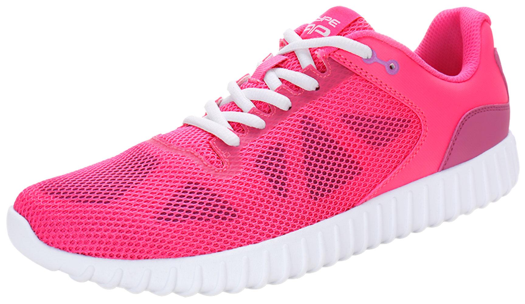 PYPE Women Geometric Prints Lace Up Mesh Training Shoes Pink US 10
