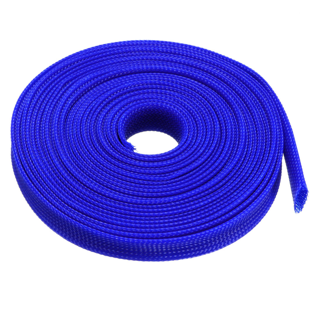 14mm Dia Tight Braided PET Expandable Sleeving Cable Wire Wrap Sheath Royalblue 5M