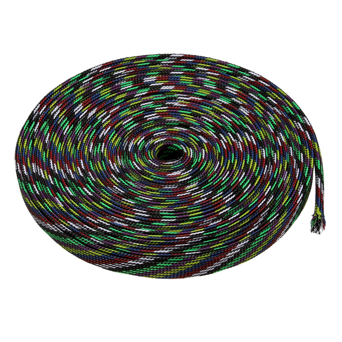 10mm PET Cable Wire Wrap Expandable Braided Sleeving Multicolor 10M Length