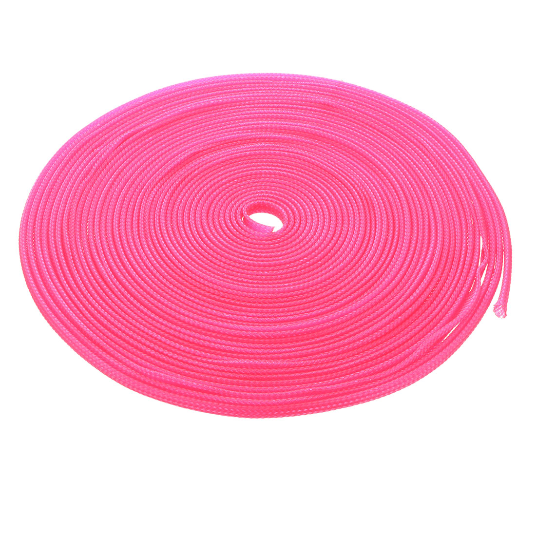 3mm Dia Tight Braided PET Expandable Sleeving Cable Wire Wrap Sheath Pink 10M