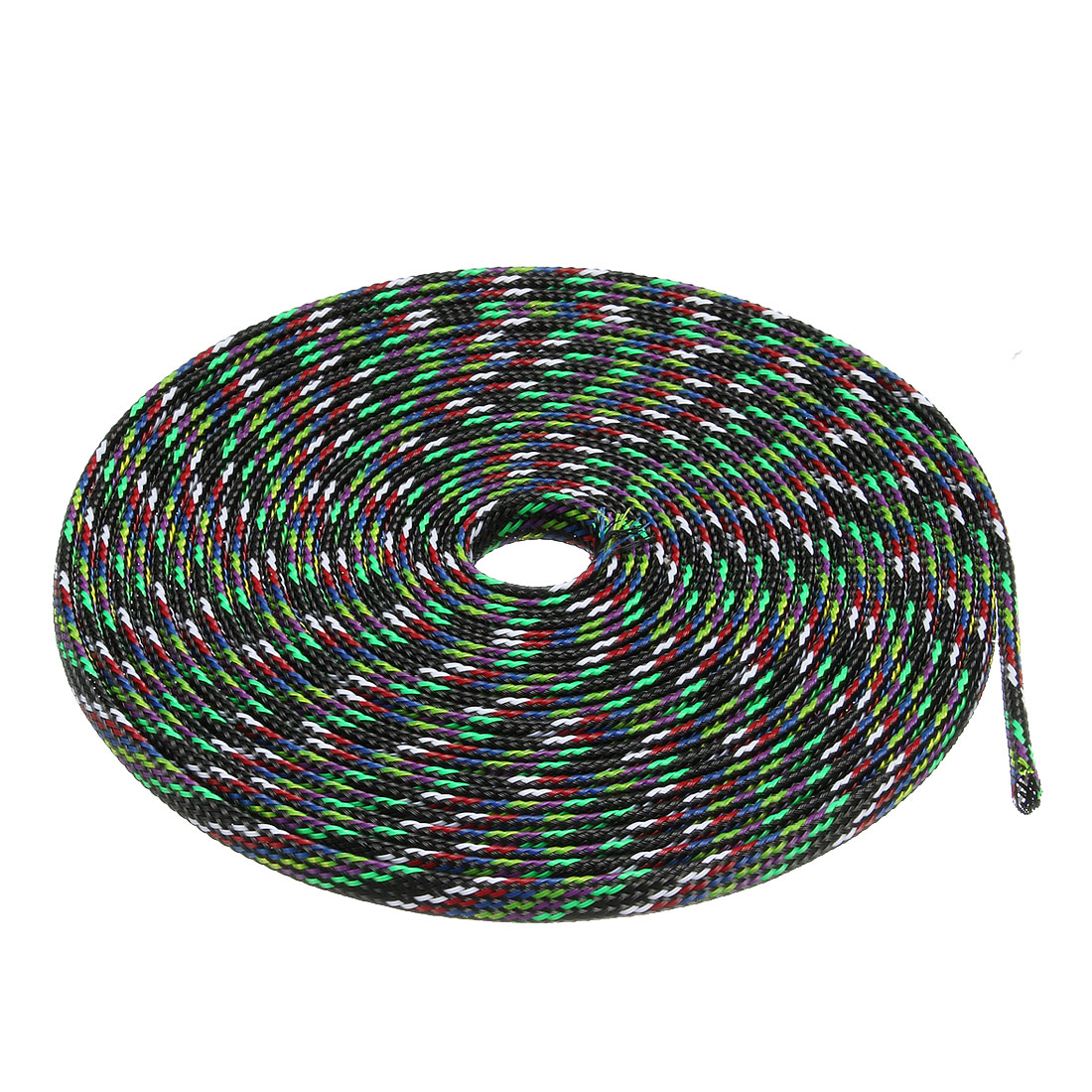 6mm PET Cable Wire Wrap Expandable Braided Sleeving Multicolor 5M Length