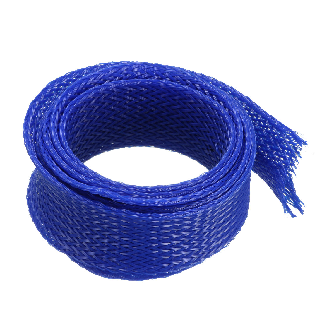 25mm Dia Tight Braided PET Expandable Sleeving Cable Wire Wrap Sheath Royalblue 1M