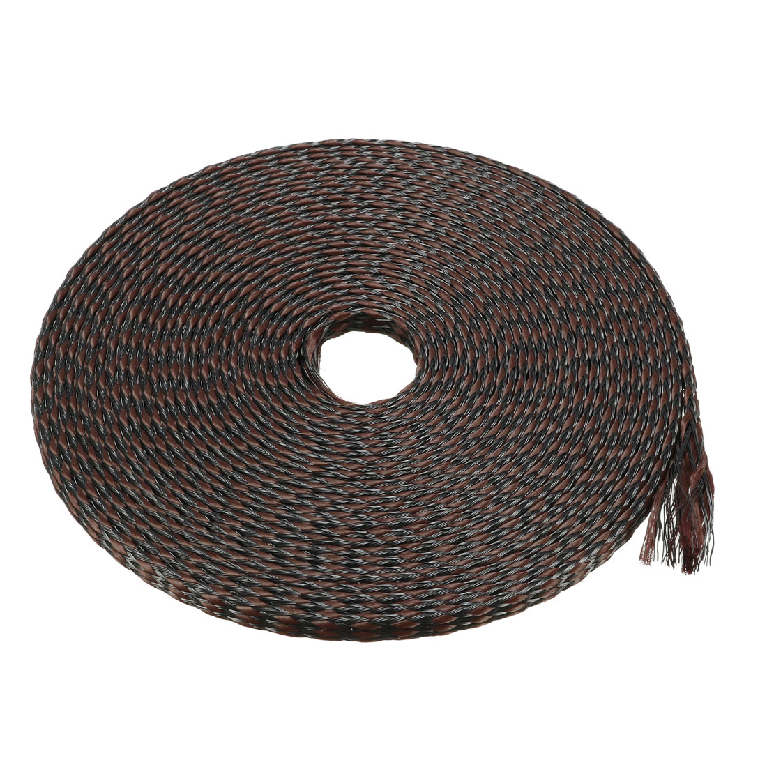 PET Braided Sleeving 16.4 Feet 5m Expandable Cable Wrap 4mm Diameter Wire Sheath Black Brown