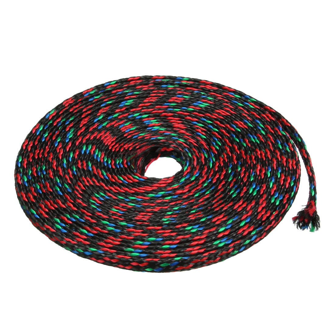 4mm Dia Tight Braided PET Expandable Sleeving Cable Wrap Sheath Multicolor 5M