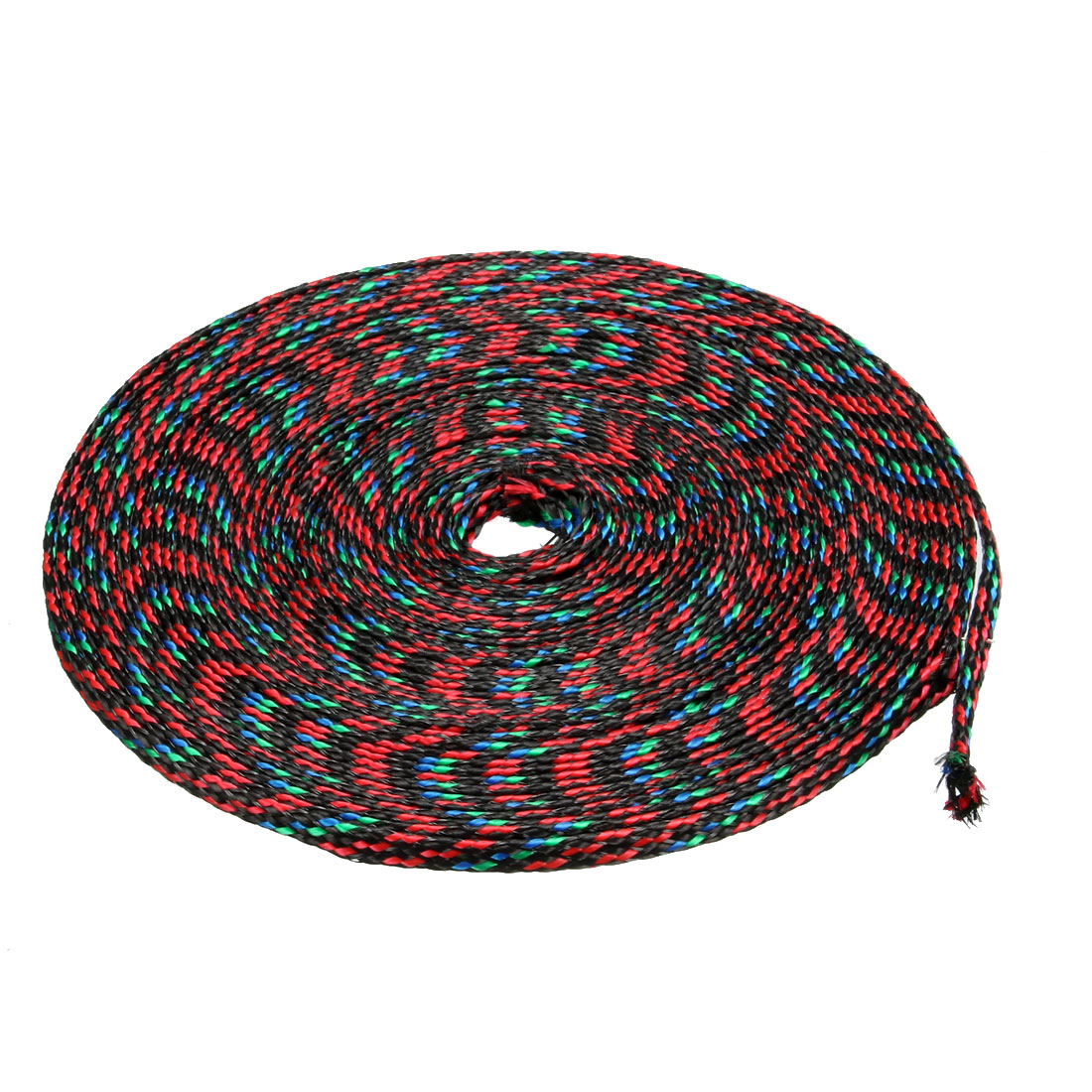 4mm Dia Tight Braided PET Expandable Sleeving Cable Wrap Sheath Multicolor 10M