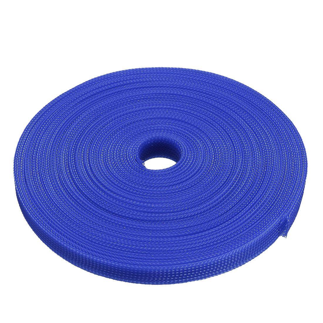 PET Braided Sleeving 32.8 Feet 10m Expandable Cable Wrap 10mm Diameter Wire Sheath Royalblue