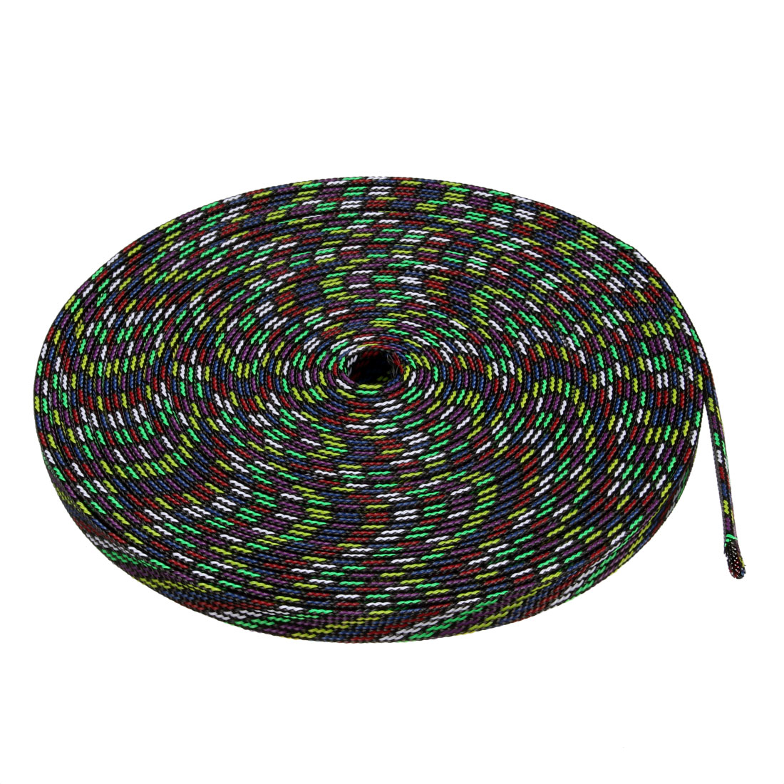 8mm PET Cable Wire Wrap Expandable Braided Sleeving Multicolor 10M Length