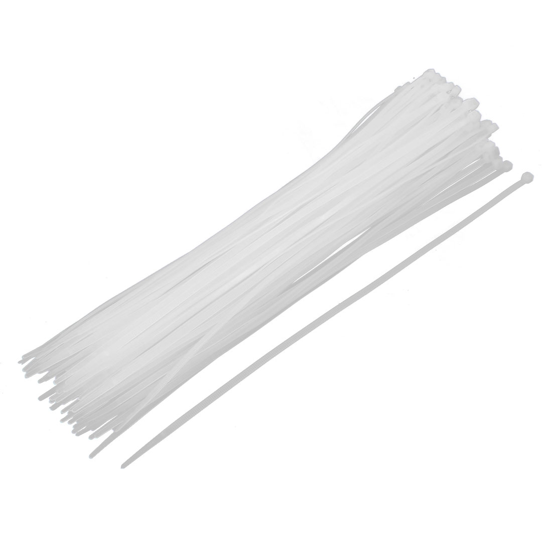 4mm x 300mm Nylon Self Locking Cable Zip Ties Fastener Beige 100pcs