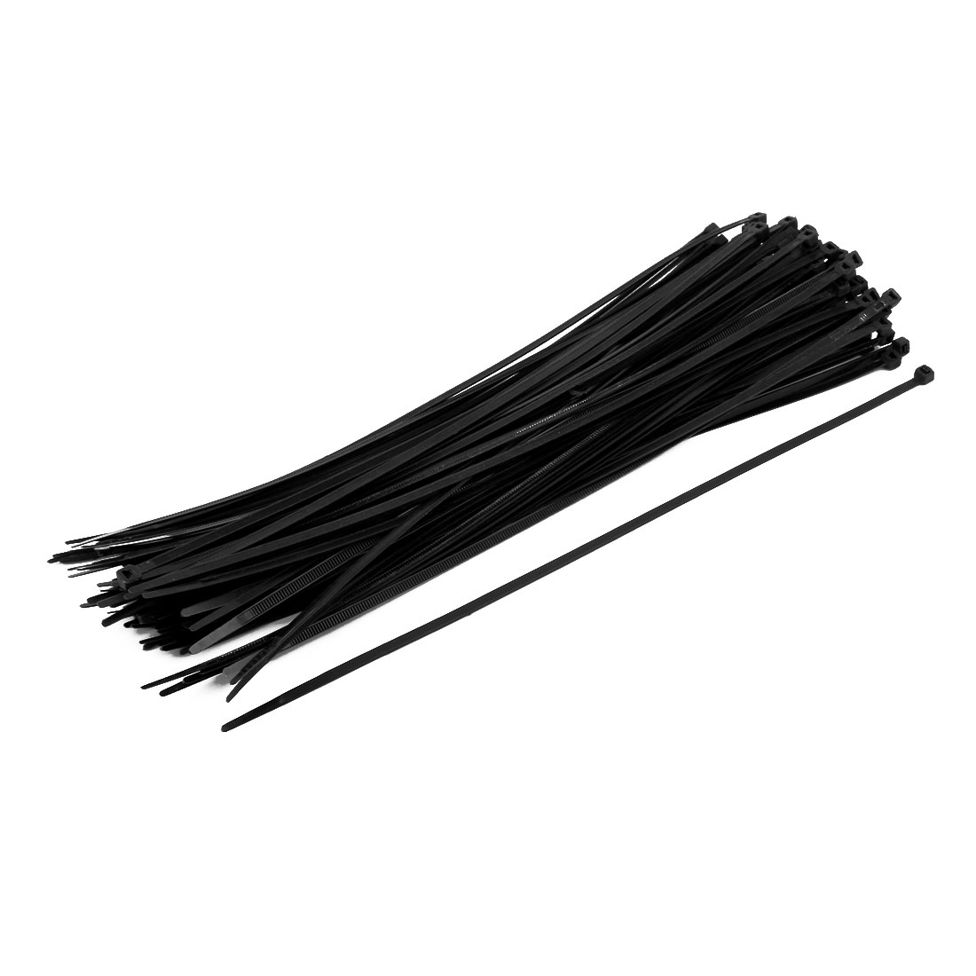 5mm x 350mm Nylon Self Locking Cable Zip Ties Fastener Black 100pcs
