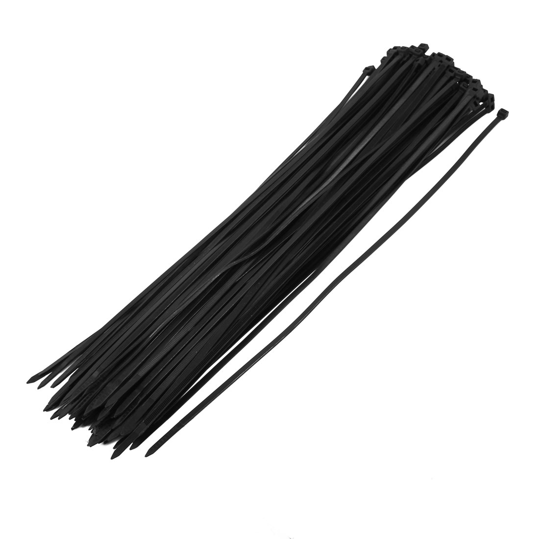 5mm x 400mm Nylon Self Locking Cable Zip Ties Fastener Black 100pcs