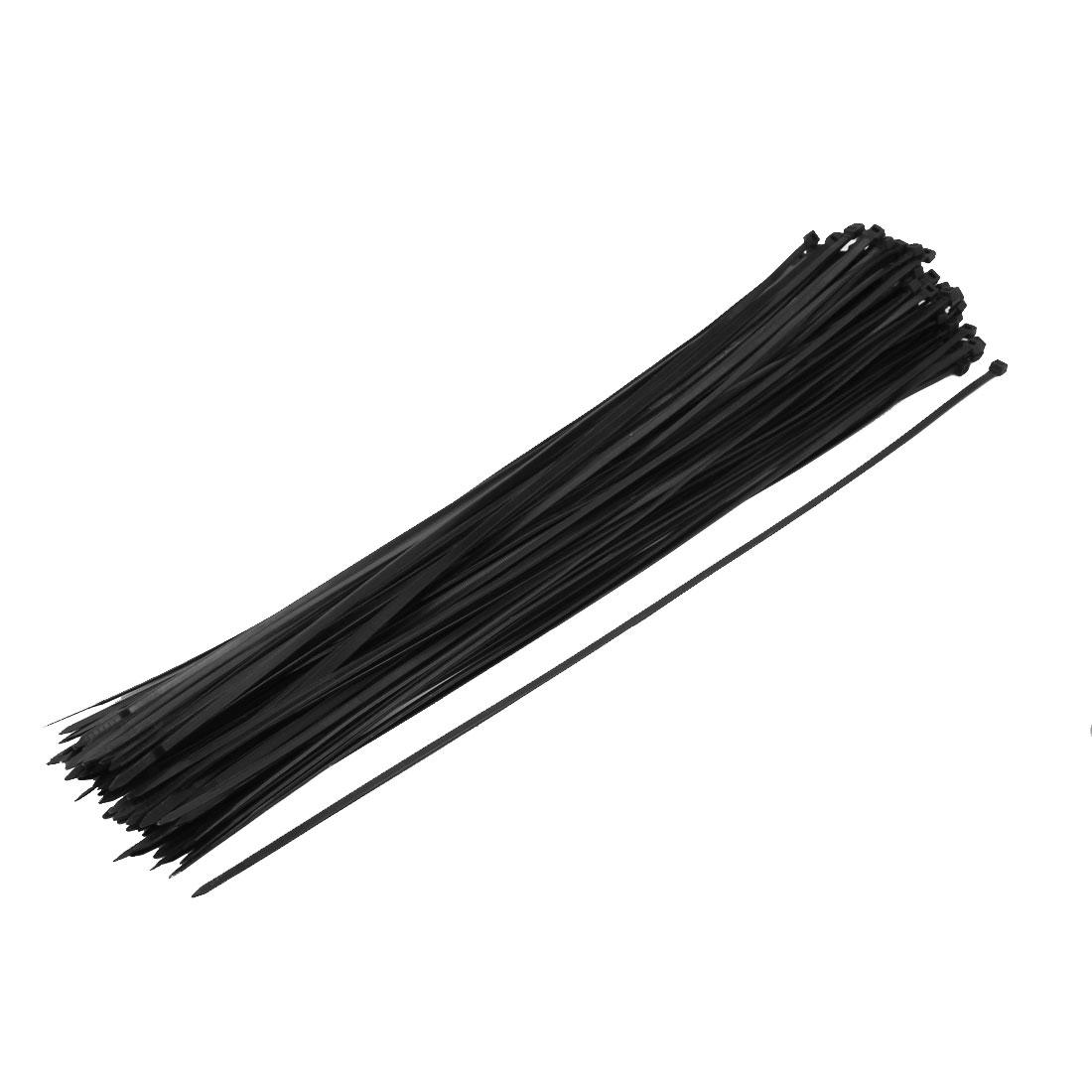 5mm x 500mm Nylon Self Locking Cable Zip Ties Fastener Black 100pcs