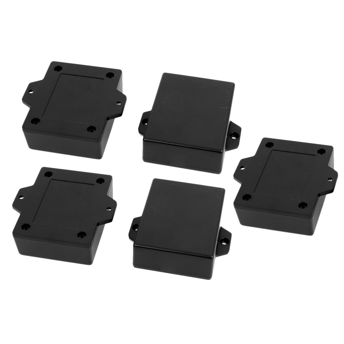 63mmx50mmx22mm Plastic Enclosure Electric Project Case Junction Box Black 5pcs