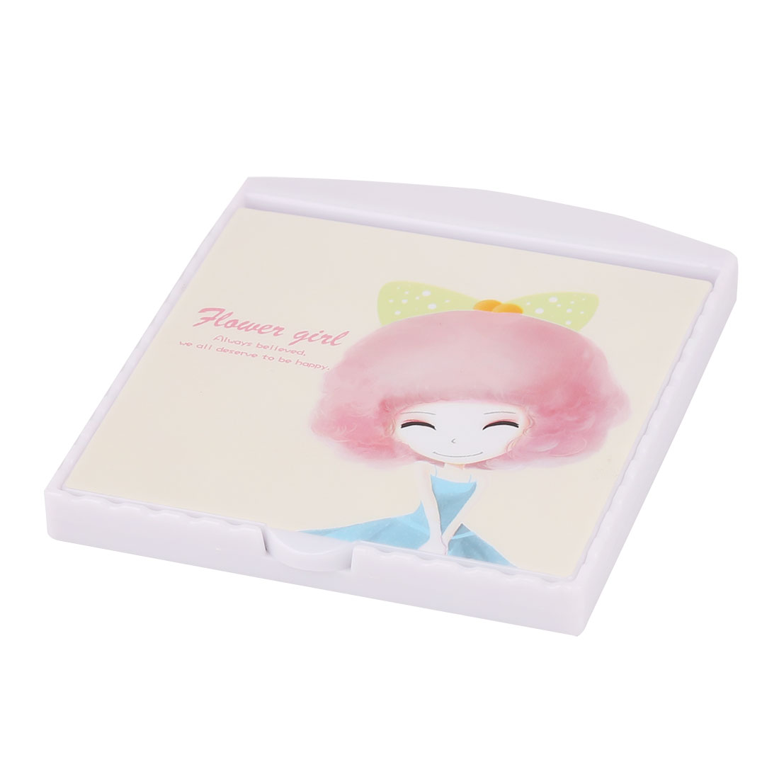 Party Plastic Rectangle Shaped Folding Mini Makeup Cosmetic Mirror Comb 2 in 1