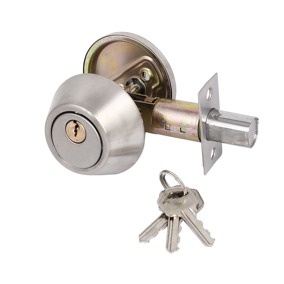 Bedroom Keyed Entry Dual Cylinder Deadbolt Lock Locker for 35mm-45mm Thick Door