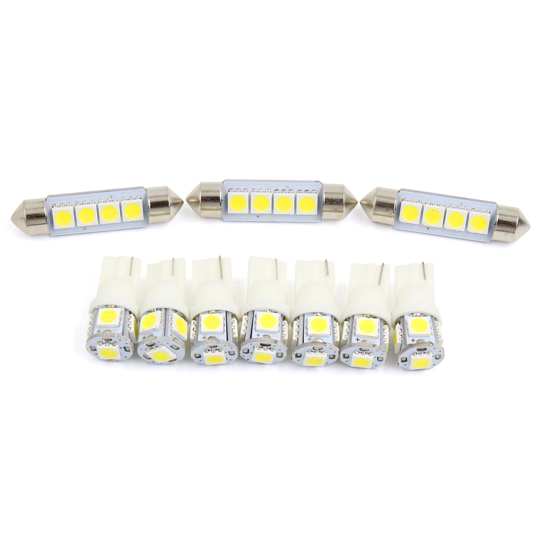 10PCS White Car Truck Cargo Area Lamp LED Interior Light Kit for Ford F150 Regular 2 Door 2009-2011