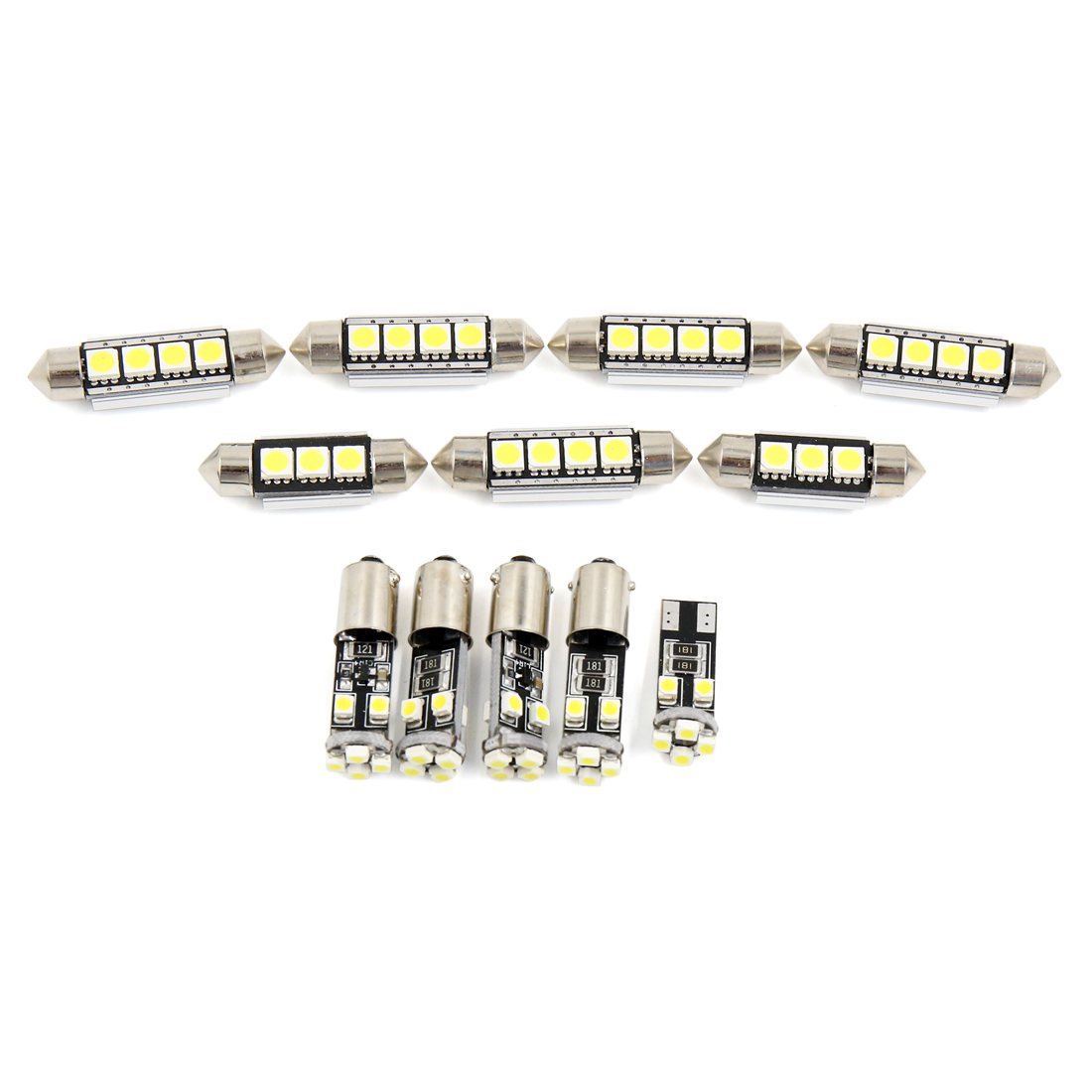 12PCS Canbus White Car Auto Dome Map LED Lights Interior Package Kit