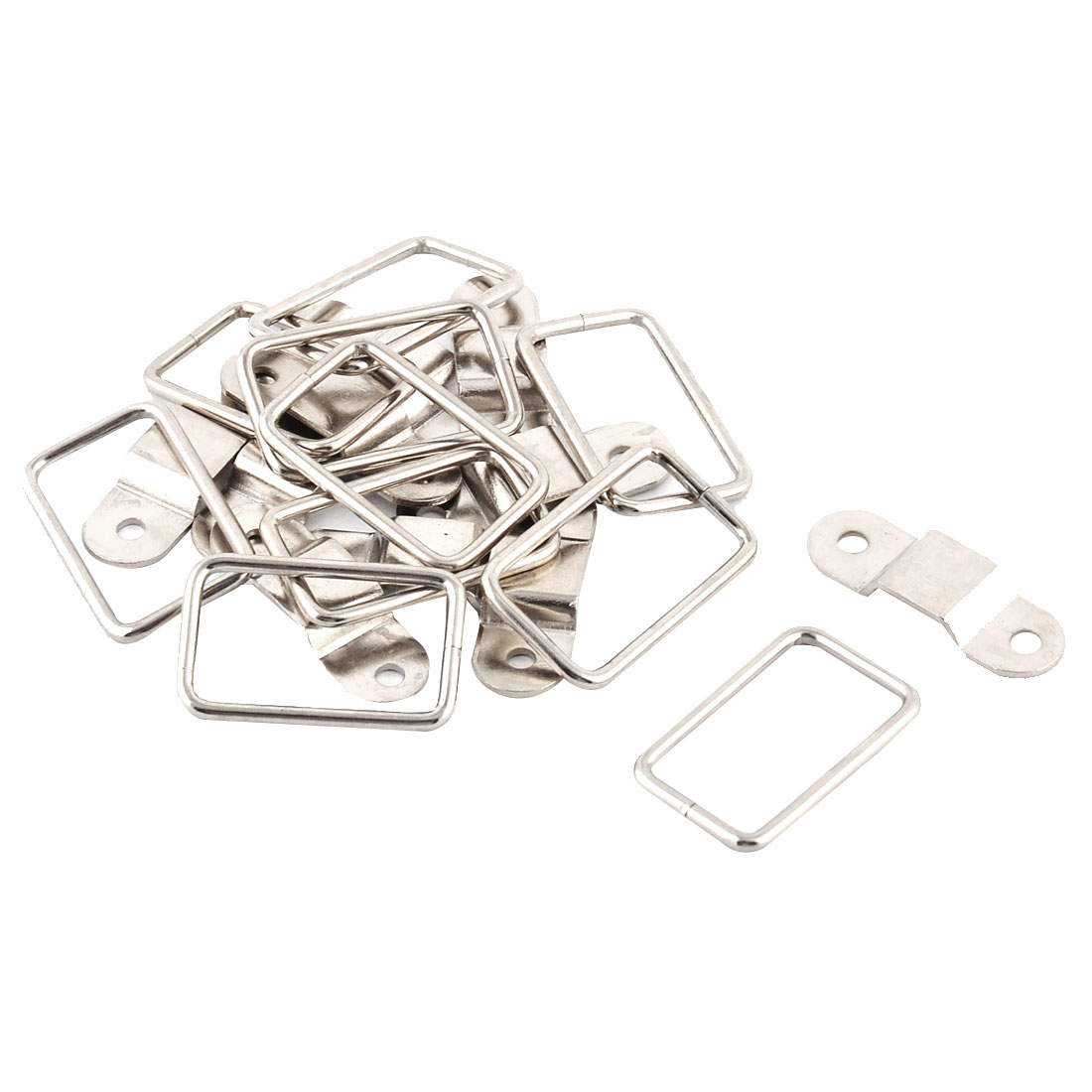 Cabinet Cupboard Drawer Door Metal Rectangle Pull Handle Silver Tone 10 PCS