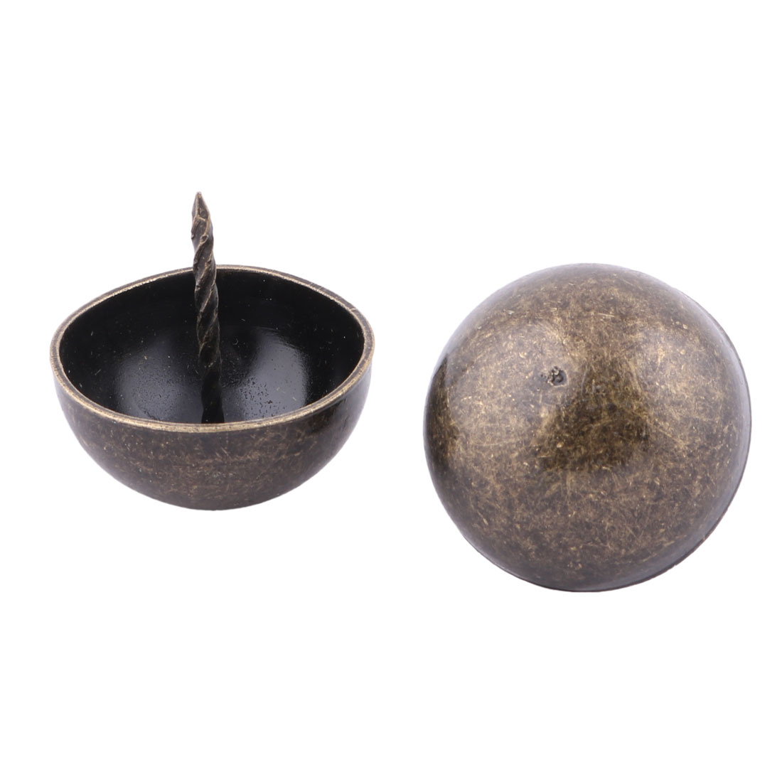 Home Furniture Metal Round Hat Upholstery Thumb Tack Nail Pushpin Bronze Tone 4 x 4.1cm 2pcs