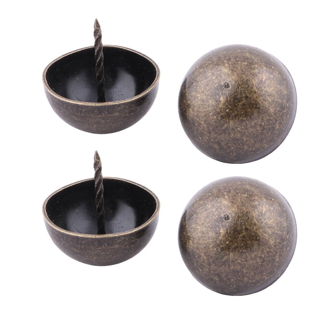 Home Furniture Metal Upholstery Thumb Tack Nail Drum Decor Pushpin Copper Tone 4 x 4cm 4pcs
