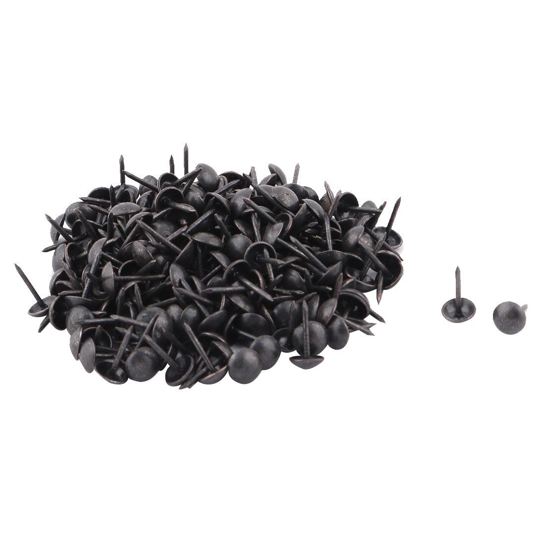 Table Chair Metal Round Head Thumb Tack Nail Pushpin Black 7 x 13mm 200pcs