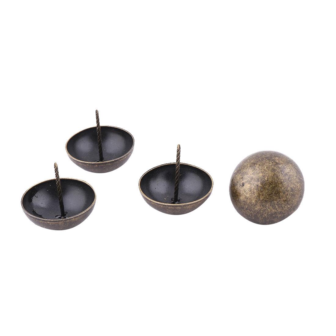 Home Furniture Metal Round Cap Tack Nail Decor Pushpin Bronze Tone 50 x 50mm 4pcs