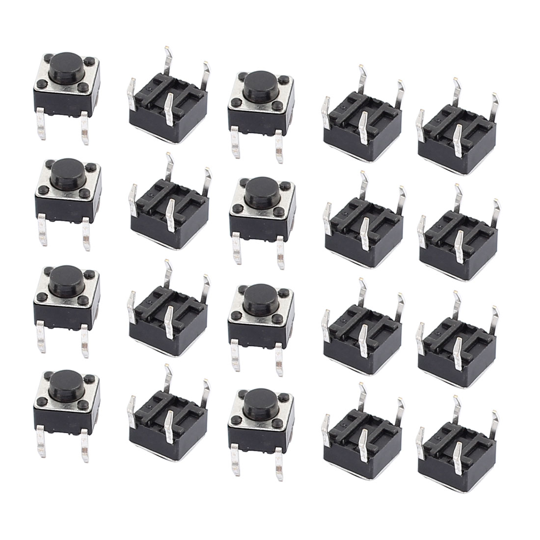 20 Pcs 6mmx6mmx5mm Panel PCB Momentary Tactile Tact Push Button Switch 4 Terminals