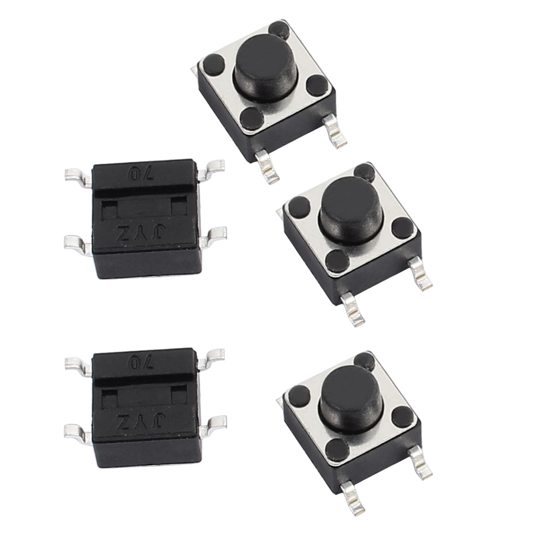 5 Pcs 6mmx6mmx3.5mm Panel PCB Momentary Tactile Tact Push Button Switch