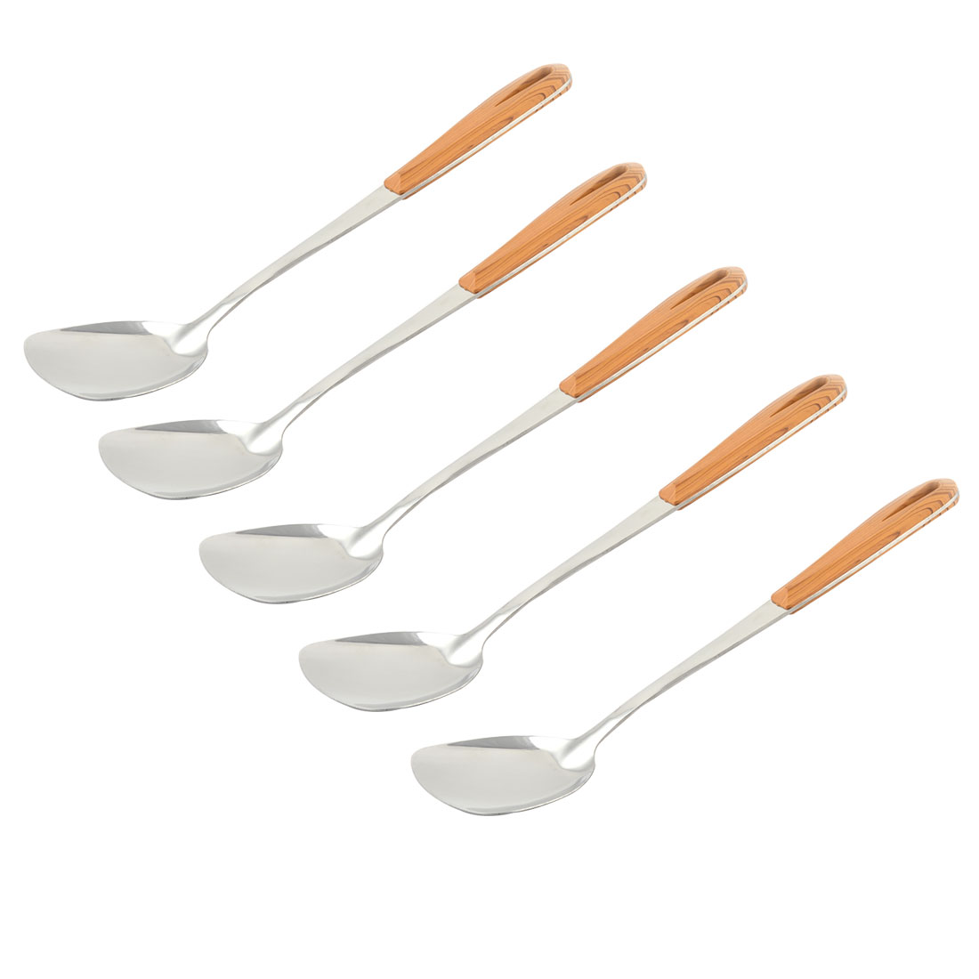 Kitchen Cooking Tool Solid Stir Fry Pancake Turner Spatula 37cm Length 5 PCS