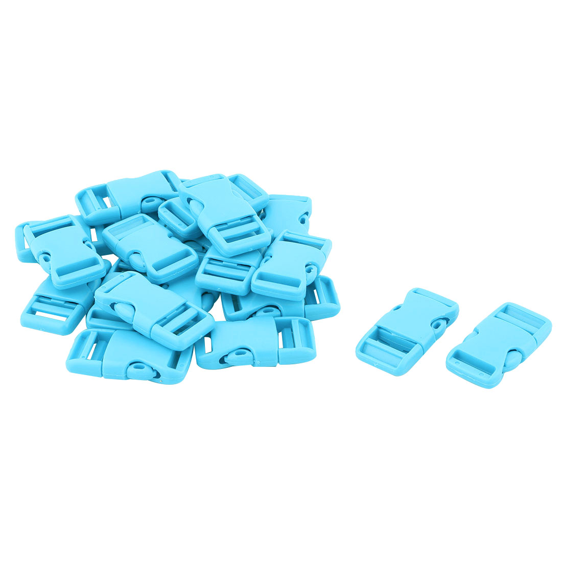 Backpack Bag Plastic Strap Belt Adjustive Connecting Quick Release Buckle Sky Blue 20 Pcs