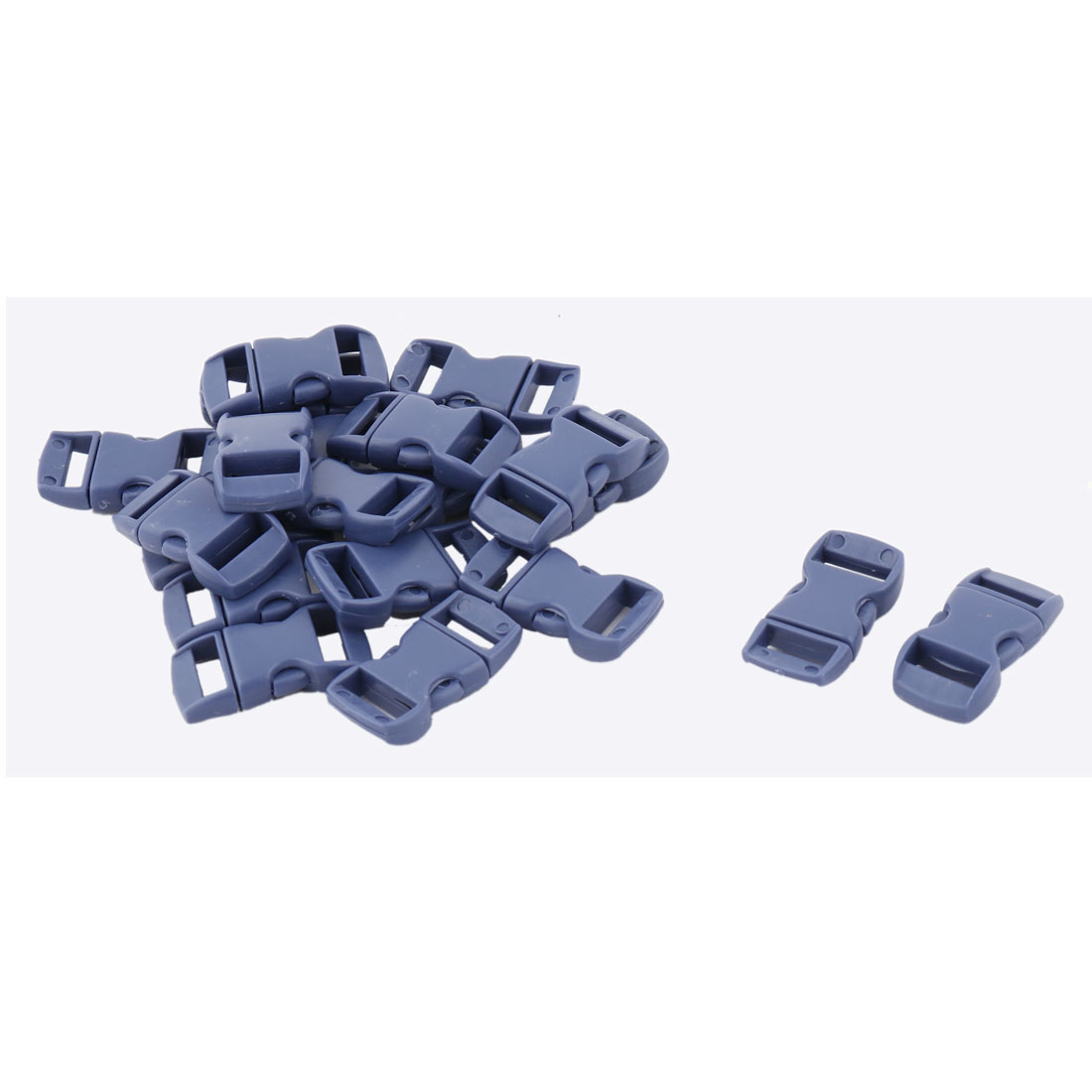 Bag Plastic Strap Webbing Belt Adjustive Connecting Quick Release Buckle Dark Blue 20 Pcs