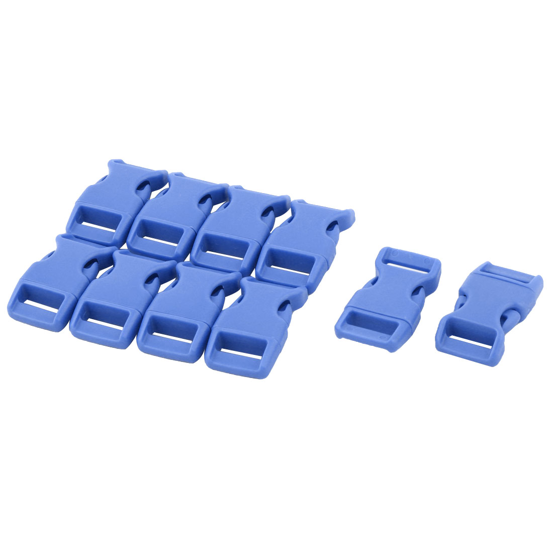 Handbag Plastic Strap Webbing Adjustive Connecting Quick Release Buckle Blue 10 Pcs