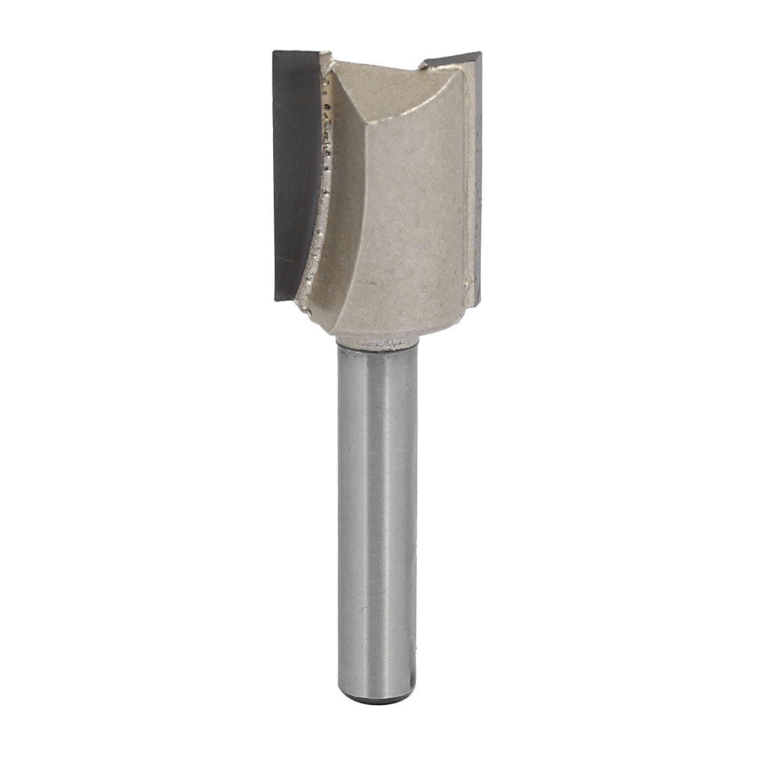 "5/8"" Dia by 20mm Depth Double Flute Carbide Tip Straight Router Bit, 1/4"" Shank"