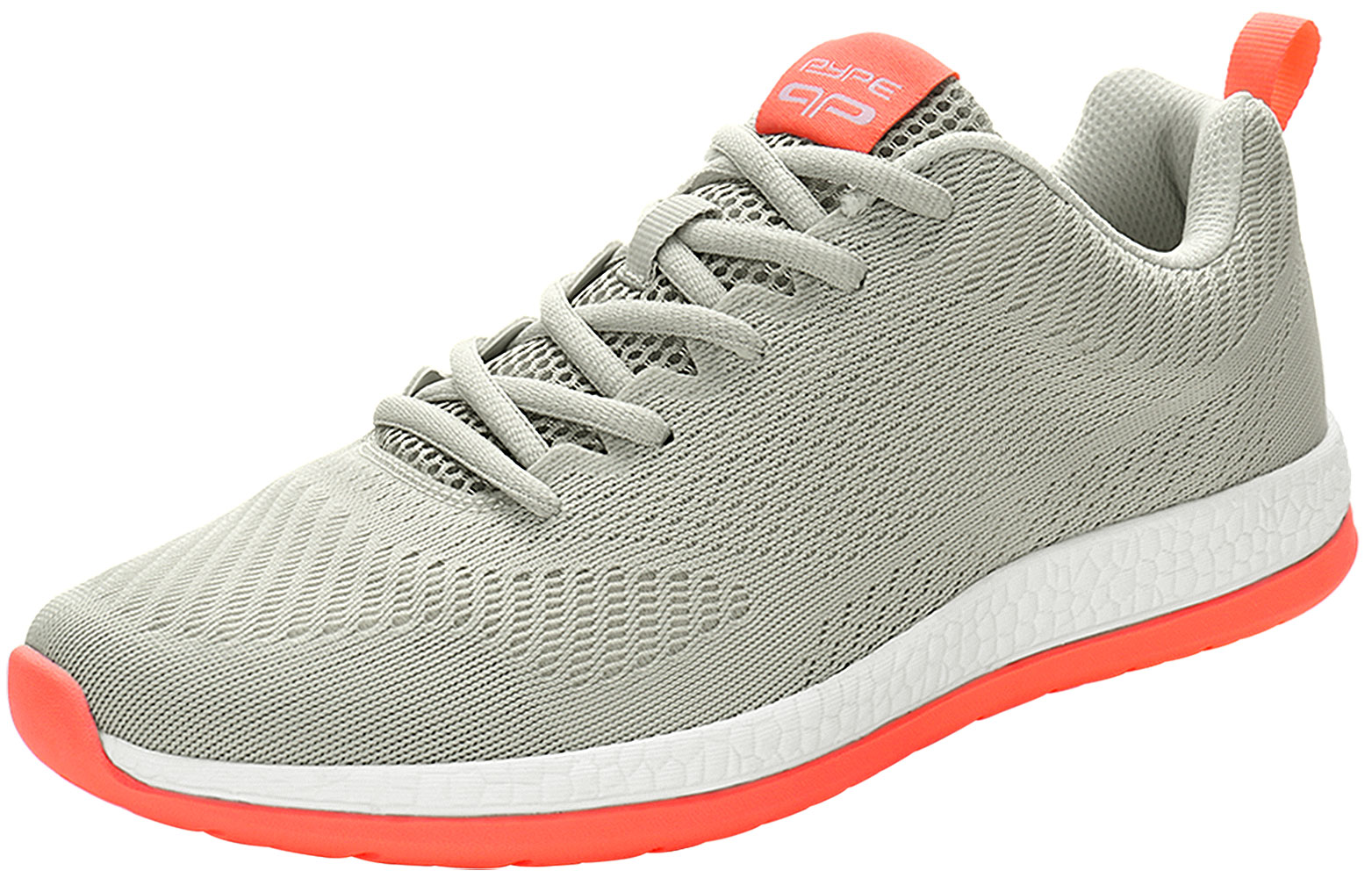 PYPE Women Mesh Contrast Color Round Toe Training Sneakers Gray US 9.5