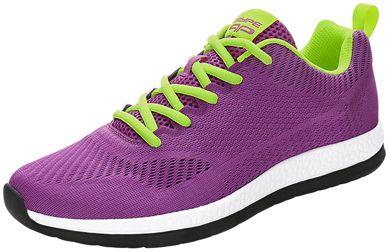 PYPE Lady Mesh Contrast Color Round Toe Training Sneakers Purple US 8
